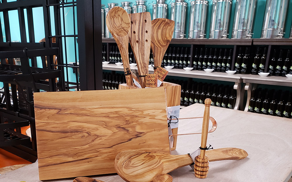 The Olive Vault Gourmet Olivewood Items